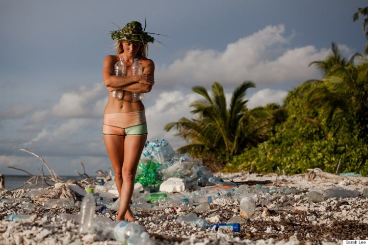 "Alison's Adventures Maldives ""One man's trash is another woman's bikini"" While shooting Discover Channel's #1 show Naked and Afraid in the Maldives, I was overwhelmingly shocked by the amount of plastic trash covering the uninhabited, picturesque island. This was only one island - I couldn't bear to imagine what the other 1,200 islands looked like, covered in trash. To leave the island we actually made a raft out of bottles. As we paddled to our rescue boat, I swore I would come back and do something about the plastic pollution. After returning from ""everest of survival challenges"" living with NOTHING for 21 days, I devoured a chocolate bar, took a much needed shower and my first thought was: How can I help transform plastic waste around the world into usable items? The scariest thought was that only a portion of the plastic trash was coming from the inhabited islands, it was also coming to the island chain from other countries brought by the ocean currents. Over a year later I retuned to the Maldives, hosted by Shaahina Ali and accompanied by photographers/videographers Sarah Lee and Mark Tipple. Together we set off on a wild adventure back to ""my island"" wearing all clothing made from recycled plastic bottles from a company called Repreve that transforms plastic into usable thread for world renowned brands like Patagonia, Odina, Teeki, Volcom, and Roxy - and of course my surfboards are Sustainable Surf approved Eco Board made from recycled styrofoam and sunglasses from Zeal Optics. An international icon of natural beauty, my experience in the Maldives presents an opportunity to tell a crucial story about plastic waste and recycling that fits into my ""Surf Survive Sustain"" mission, of living a non-invasive existence as environmentally responsible as possible. While there, I collected trash in an effort save the highly threatened biosphere (insert manta photo) and then retuned to my Naked and Afraid island to do a beach clean up with a team of amazing volunteers. In only a half hour, covering about 50 feet of beach we gathered all the bottles in this photo below and the villagers took great pride in making sure I was no longer ""naked"" but ""clothed"" in plastic fashion. All trash collected in the Maldives is taken to ""Trash Island"", or Thilafushi, an island landfill made entirely of waste that stands as a sort of eerie, beautiful apocalyptic art piece. Instead of looking at this wasteland as horrific, I see it as an opportunity to make a lot of pink bikinis! I would love to see plastic disappear from this world all together - particularly single use plastic such as bottles, straws, and plastic bags, but in the meantime, I would rather see it in bikinis, jackets, and eyewear than strewn across the beautiful beaches of the Maldives, and other beaches around the world - with bottles that have drifted all the way from US! We have the power to change the world with every item we purchase! Alison's Adventures Maldives film will be released in 2015…stayed tuned!"