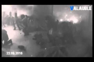 Útok v Bruselu – výbuch pohledem bezpečnostní kamery