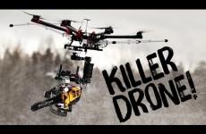 Zabijácký dron s motorovou pilou!